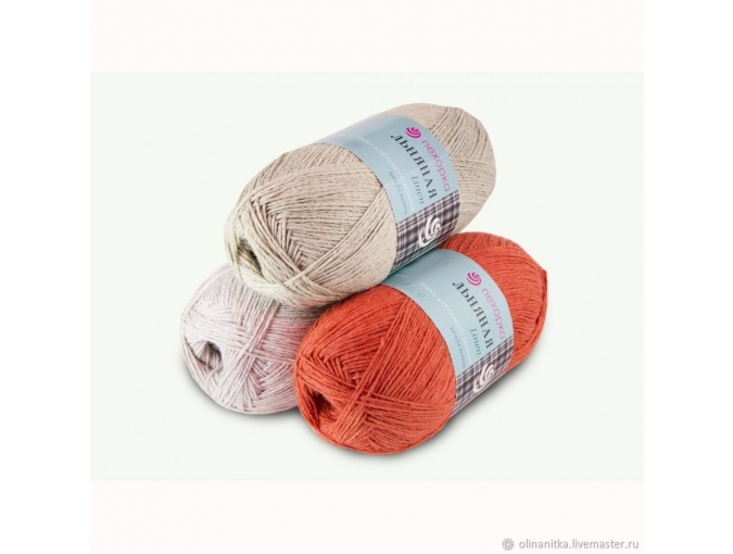 Pekhorka Linen, 55% Linen, 45% Cotton, 5 Skein Value Pack, 500g фото 1