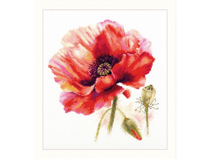 Poppy. Rich Red Cross Stitch Kit фото 1
