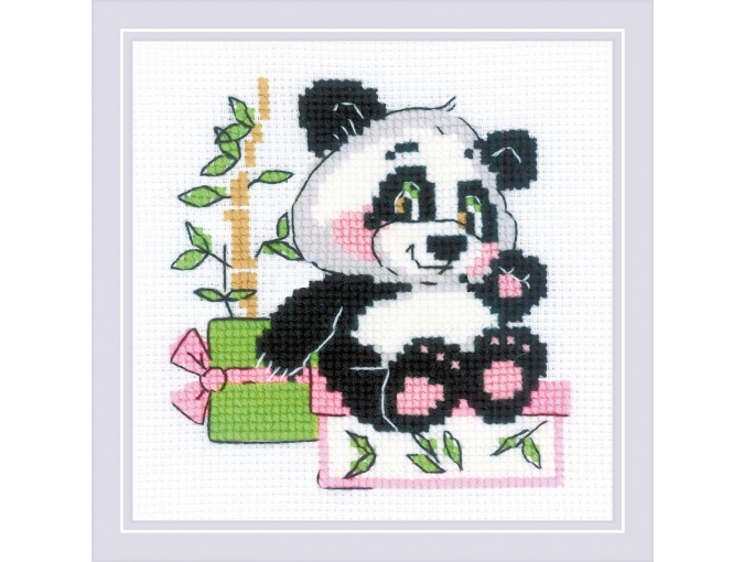 Panda Gift Cross Stitch Kit фото 1