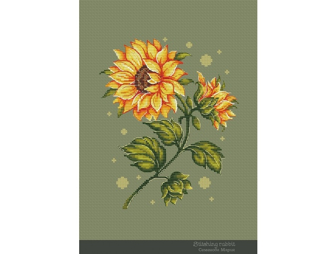Sunflower Cross Stitch Pattern фото 1