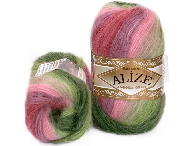 Alize Angora Gold Batik, 10% mohair, 10% wool, 80% acrylic 5 Skein Value Pack, 500g фото 11
