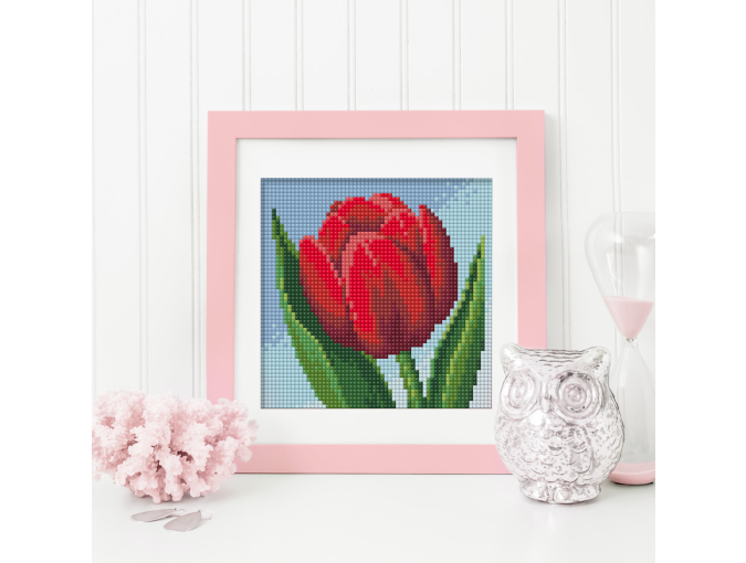 Red Tulip Diamond Painting Kit фото 1