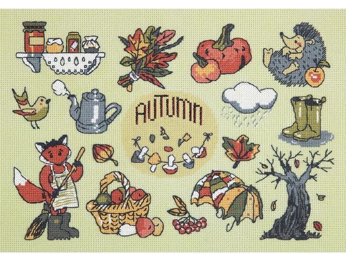 Autumn in your Pocket Cross Stitch Kit фото 1
