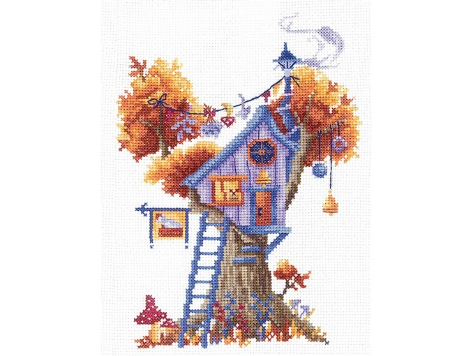 Tree Houses. Mysterious Cross Stitch Kit фото 1