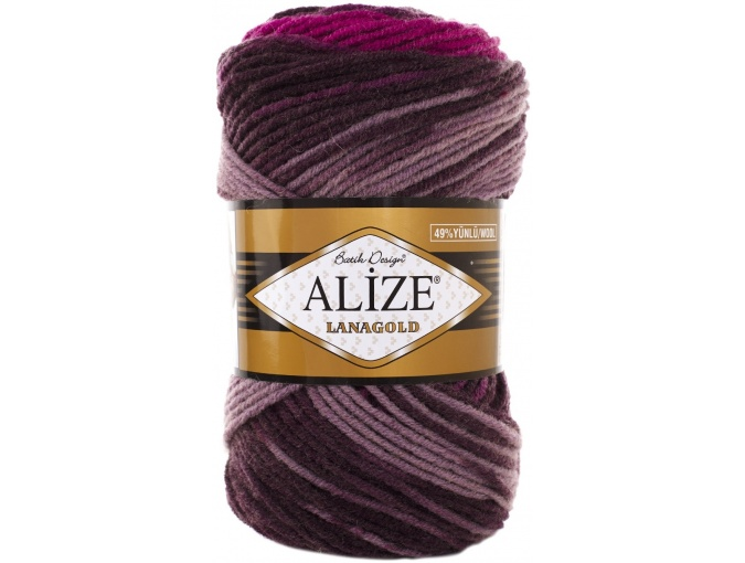 Alize Lanagold Batik 49% Wool, 51% Acrylic, 5 Skein Value Pack, 500g фото 15
