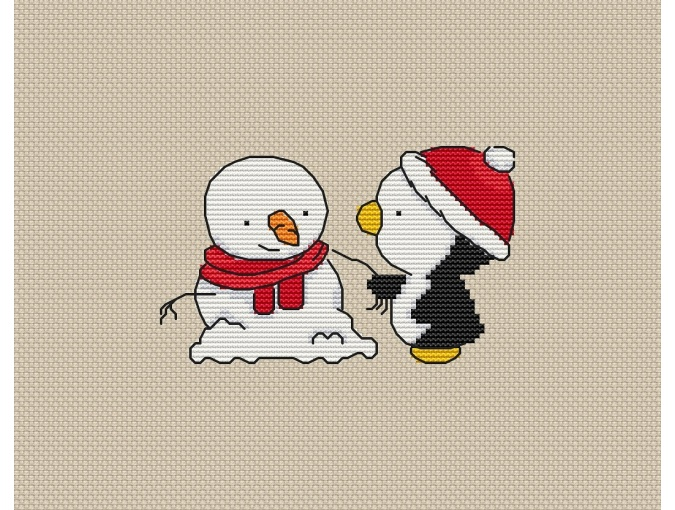 Winter Friendship Cross Stitch Pattern фото 1