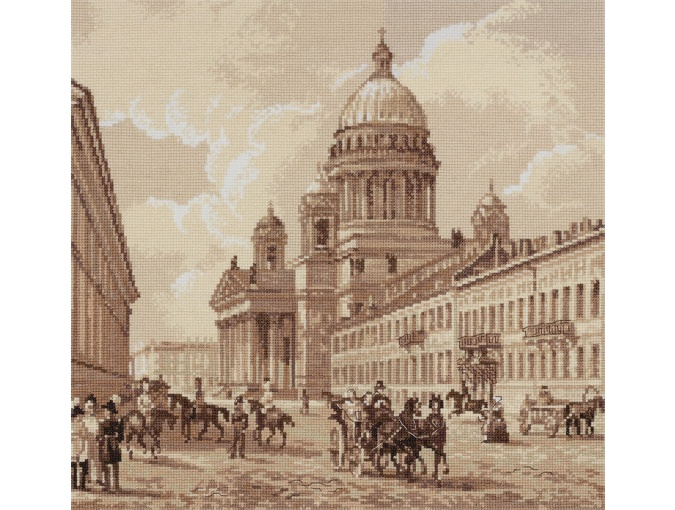 Old Petersburg. St. Isaac's Cathedral Cross Stitch Kit фото 1