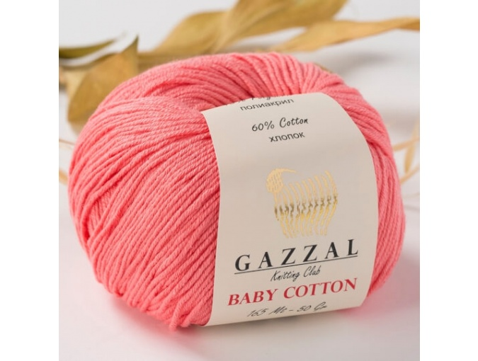 Gazzal Baby Cotton, 60% Cotton, 40% Acrylic 10 Skein Value Pack, 500g фото 52