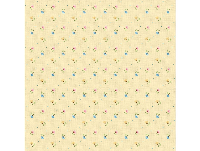 Fat Quarter Peppy, print Yellow with Small Flowers фото 1