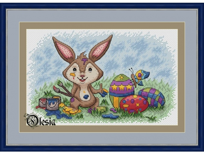 Easter Paints Cross Stitch Pattern фото 1