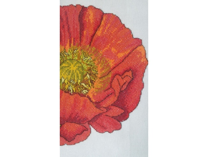 Bright Poppy Cross Stitch Pattern фото 8