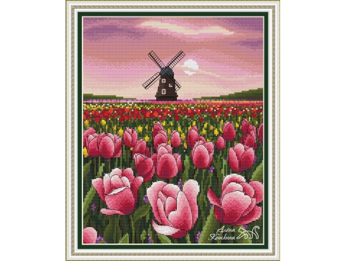 Rose Evening Cross Stitch Pattern фото 1