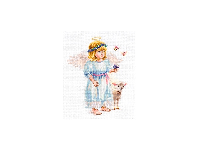 Light Angel with Lamb Cross Stitch Kit фото 1