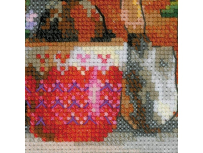 Windowsill with Flowers Cross Stitch Kit фото 4