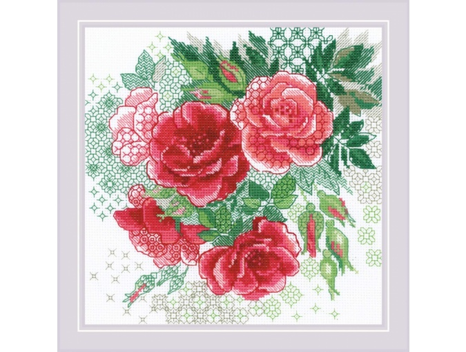 Red Rose Hip Cross Stitch Kit фото 1