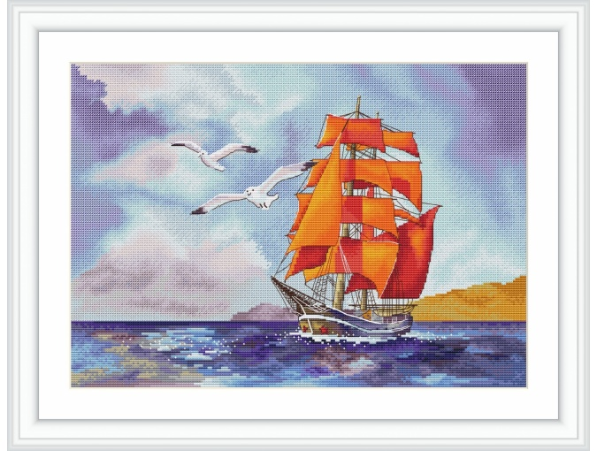 Red Sails Cross Stitch Pattern фото 1