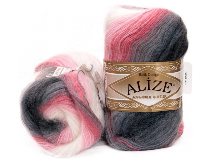 Alize Angora Gold Batik, 10% mohair, 10% wool, 80% acrylic 5 Skein Value Pack, 500g фото 3