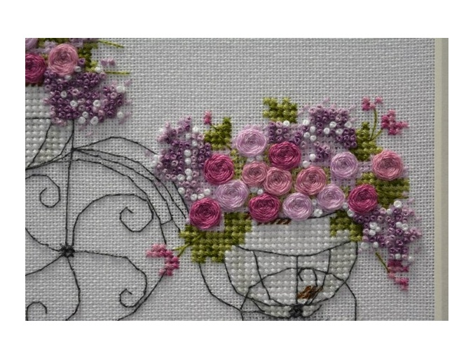 Flower Bike Cross Stitch Pattern фото 3