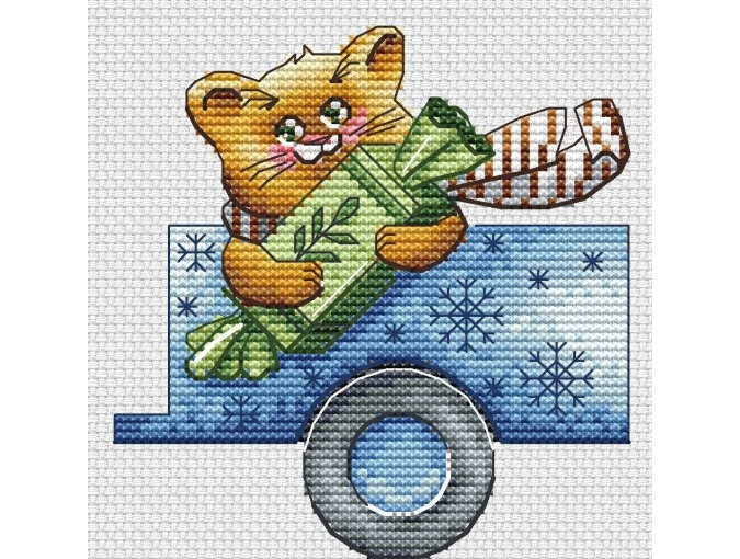Christmas Truck Cross Stitch Pattern фото 5
