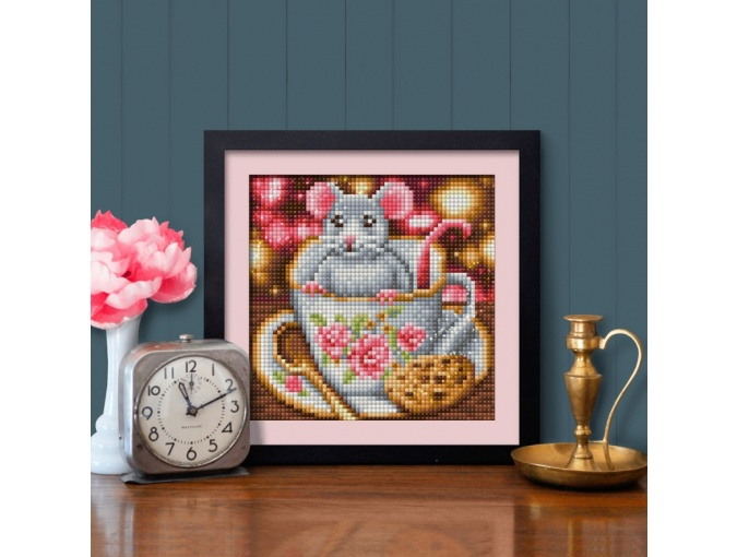 Rat in a Cup Diamond Painting Kit фото 2