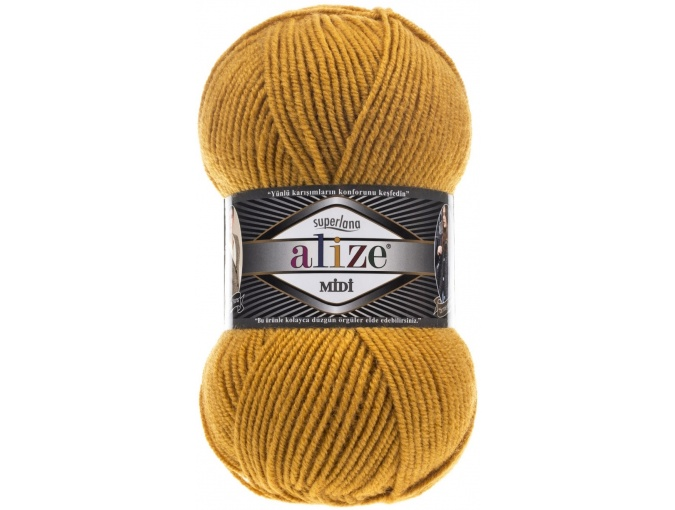 Alize Superlana Midi 25% Wool, 75% Acrylic, 5 Skein Value Pack, 500g фото 3