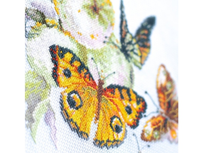 Butterflies and Apples Cross Stitch Kit фото 9