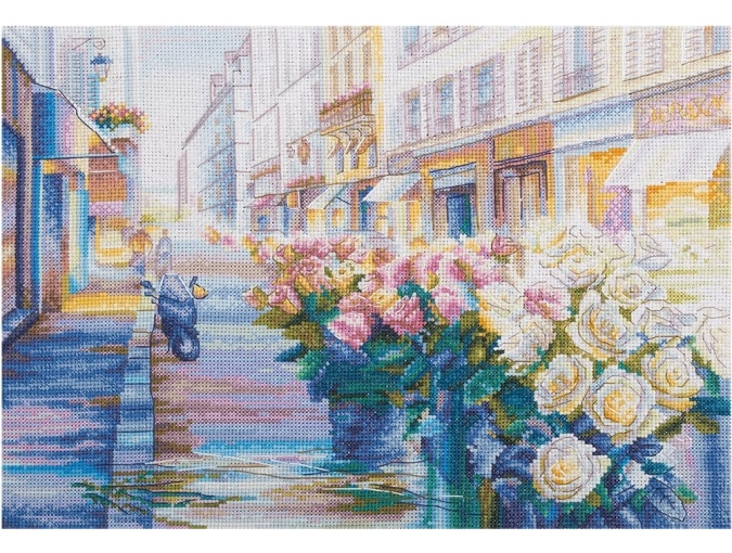 Paris in Bloom Cross Stitch Kit фото 1