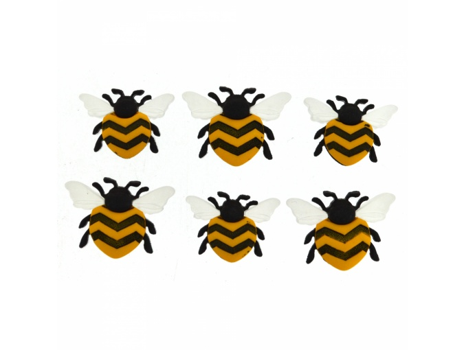Bee Happy Set of Decorative Buttons фото 1