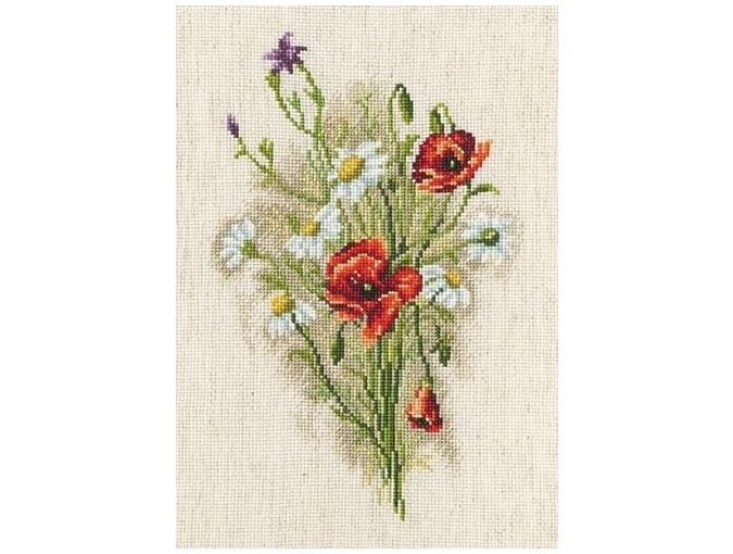 Bouquet With Daisies Cross Stitch Kit фото 1