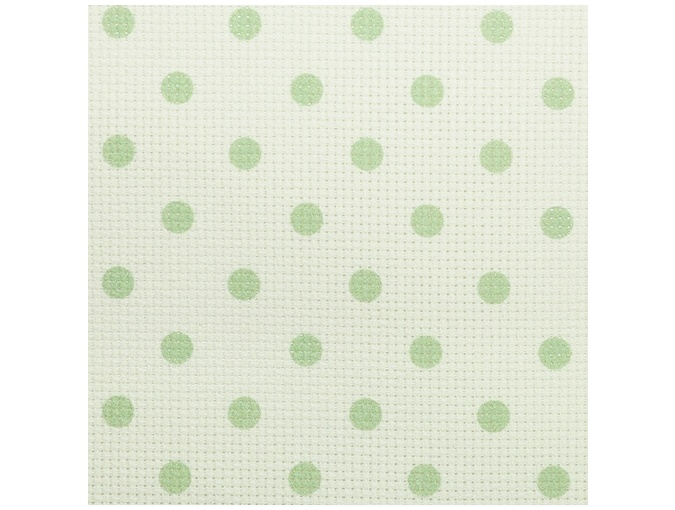 14 Count Aida Designer Fabric by Bestex Green Dots фото 1