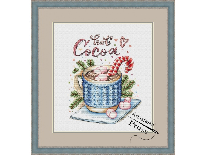 Hot Cocoa Cross Stitch Pattern фото 1