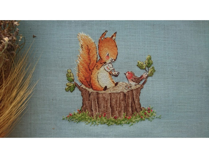Tea in the Forest Cross Stitch Pattern фото 2