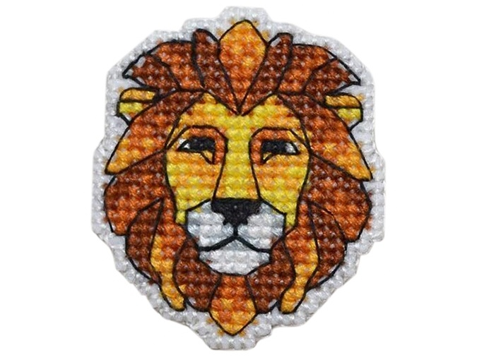 Lion Badge Cross Stitch Kit фото 1