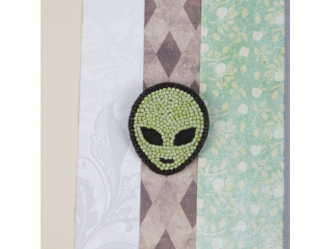 Brooch. Alien Bead Embroidery Kit фото 3
