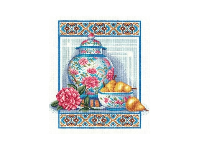 Chinese Porcelain Cross Stitch Kit фото 1