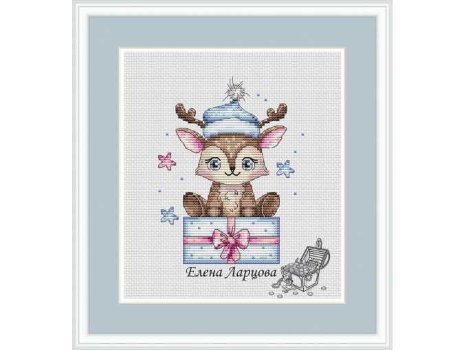 Cute Little Deer Cross Stitch Pattern фото 1