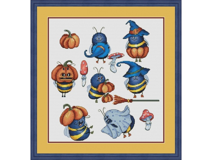 Bee Halloween Cross Stitch Pattern фото 1