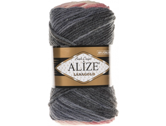 Alize Lanagold Batik 49% Wool, 51% Acrylic, 5 Skein Value Pack, 500g фото 4