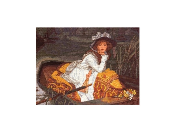 Young Lady in a Boat Cross Stitch Kit фото 1