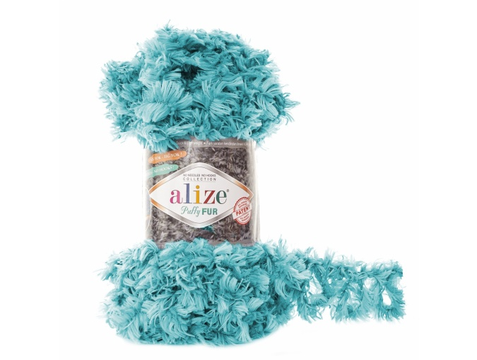 Alize Puffy Fur, 100% Polyester 5 Skein Value Pack, 500g фото 17