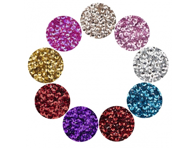 Large Set of Volumetric Sequins Flower, Bowl, 5mm фото 1
