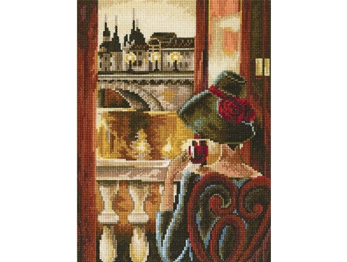 Room with a View, Paris Cross Stitch Kit фото 1