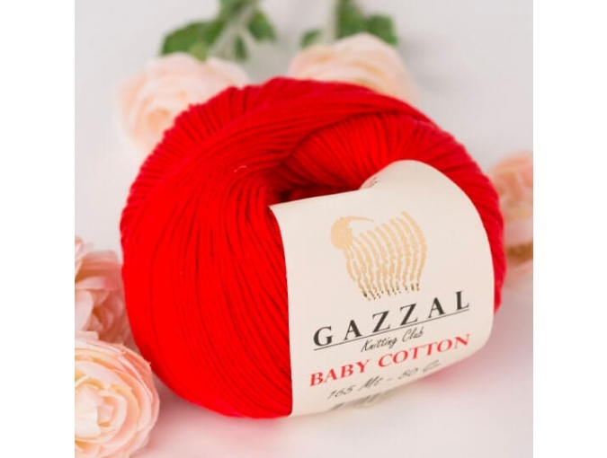 Gazzal Baby Cotton, 60% Cotton, 40% Acrylic 10 Skein Value Pack, 500g фото 68