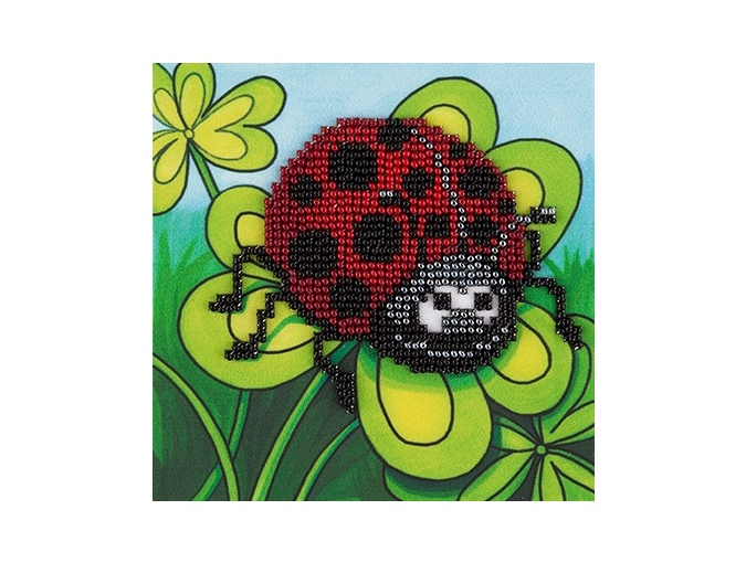 Ladybird on Сlover Bead Embroidery Kit фото 1