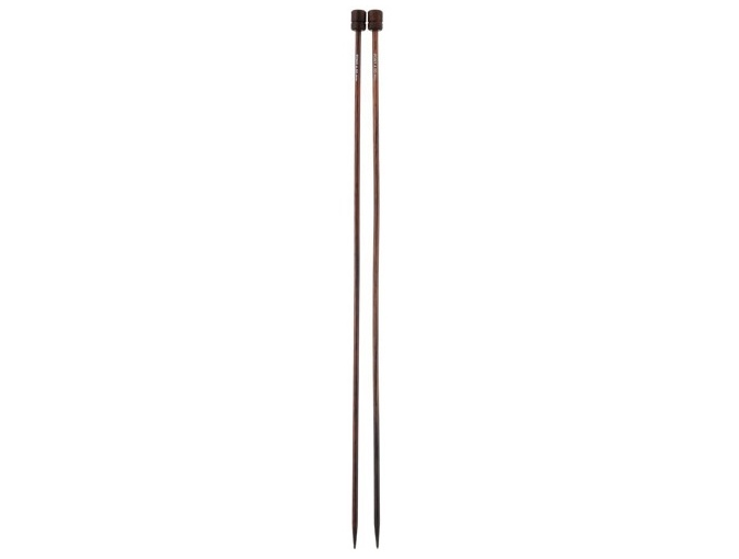 Single-pointed knitting needles, 4,00 mm/ 35 cm, rosewood фото 1