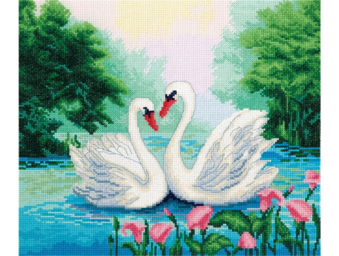 Swan Couple Cross Stitch Kit фото 1