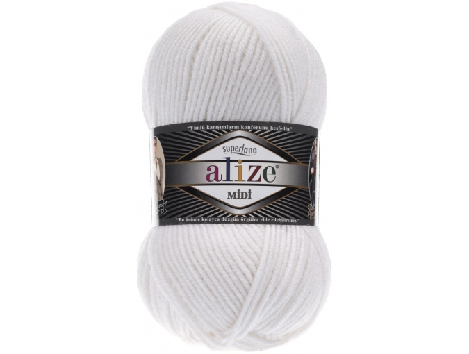 Alize Superlana Midi 25% Wool, 75% Acrylic, 5 Skein Value Pack, 500g фото 8