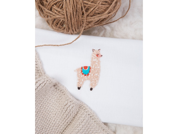 Little Llama Embroidery Kit фото 4