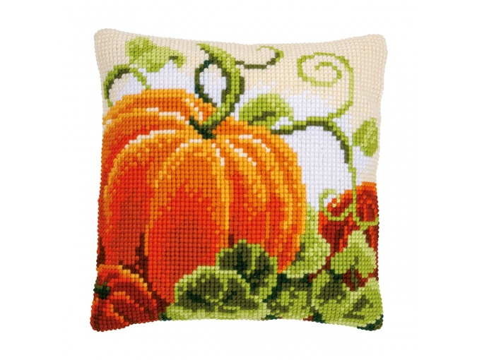 Pumpkin Cushion Cross Stitch Kit фото 1