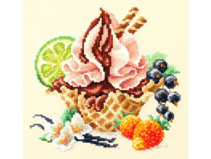 Vanilla Ice Cream Cross Stitch Kit фото 1